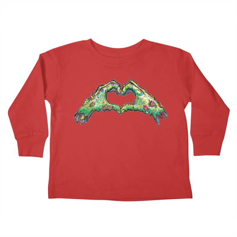 Zombie Hands ( womens) Kids Toddler Longsleeve T-Shirt by WishEyeVeiw's Tshirt & Junk Emporium!