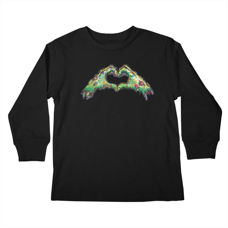 Zombie Hands ( womens) Kids Longsleeve T-Shirt by WishEyeVeiw's Tshirt & Junk Emporium!