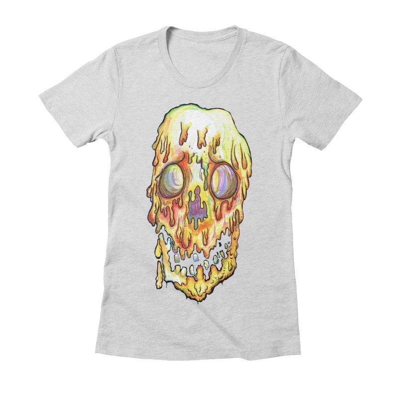MeltFace Women's Fitted T-Shirt by WishEyeVeiw's Tshirt & Junk Emporium!