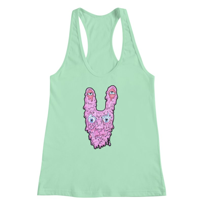Melt Bunny Women's Racerback Tank by WishEyeVeiw's Tshirt & Junk Emporium!