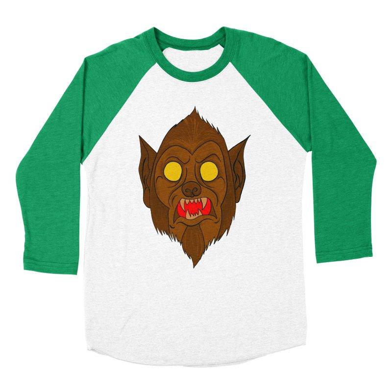 Wolfy! Men's Baseball Triblend Longsleeve T-Shirt by WishEyeVeiw's Tshirt & Junk Emporium!