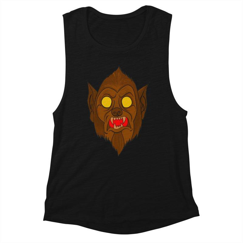 Wolfy! Women's Muscle Tank by WishEyeVeiw's Tshirt & Junk Emporium!