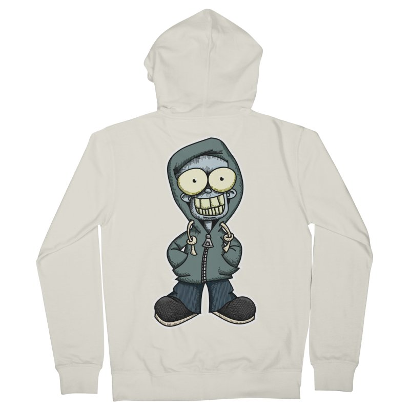 Creepy Hoodie Boy Men's Zip-Up Hoody by wislander's Artist Shop