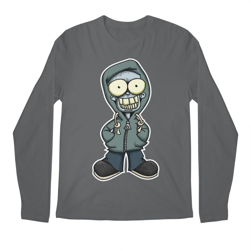 Creepy Hoodie Boy Men's Longsleeve T-Shirt by wislander's Artist Shop