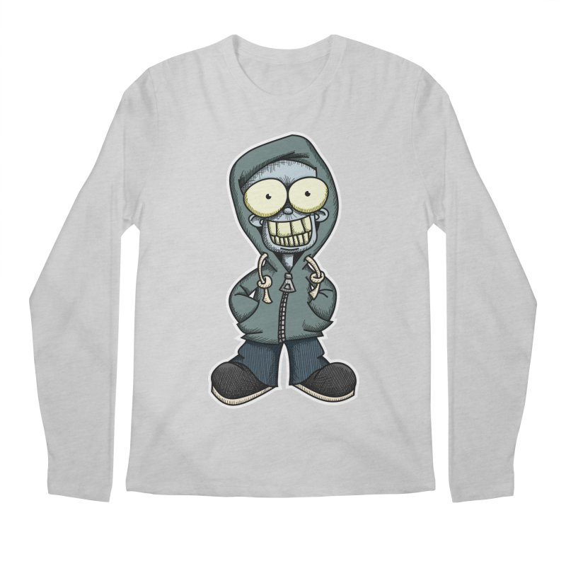 Creepy Hoodie Boy Men's Longsleeve T-Shirt by wislander's Artist Shop