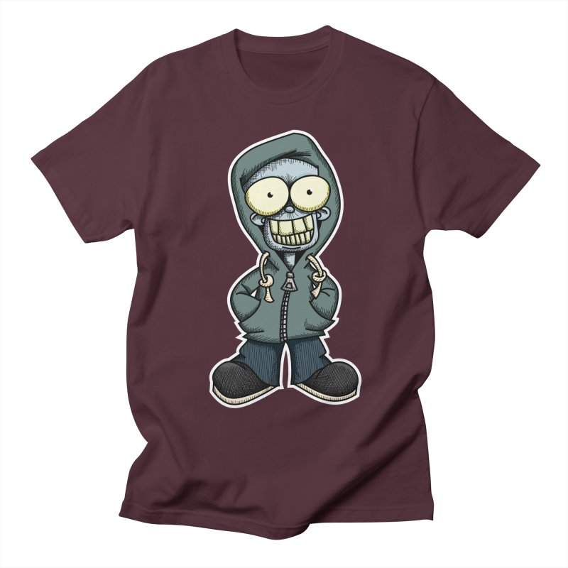 Creepy Hoodie Boy Men's Regular T-Shirt by wislander's Artist Shop