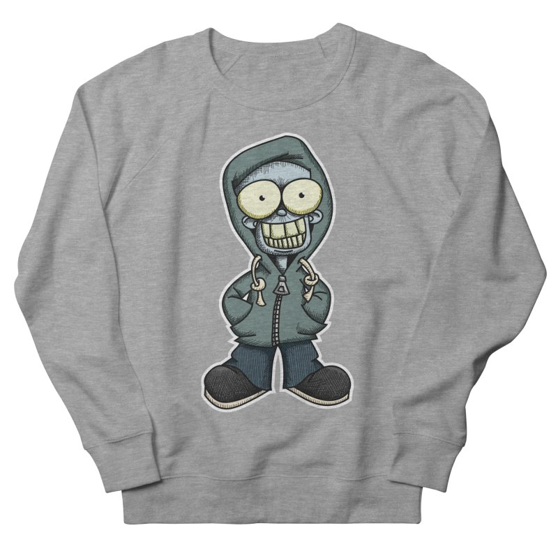Creepy Hoodie Boy Women's French Terry Sweatshirt by wislander's Artist Shop