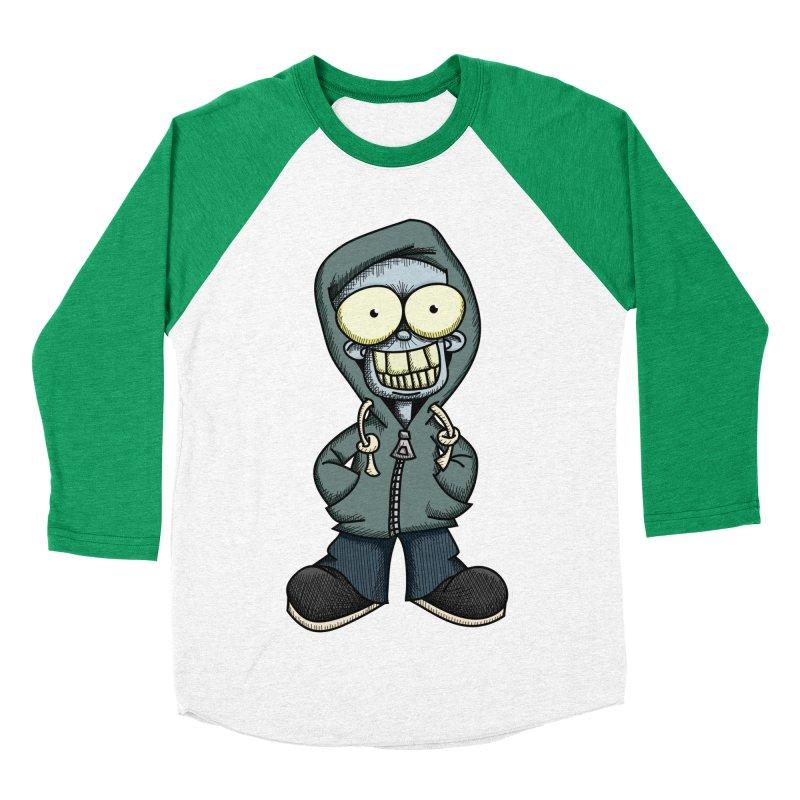 Creepy Hoodie Boy Women's Baseball Triblend Longsleeve T-Shirt by wislander's Artist Shop