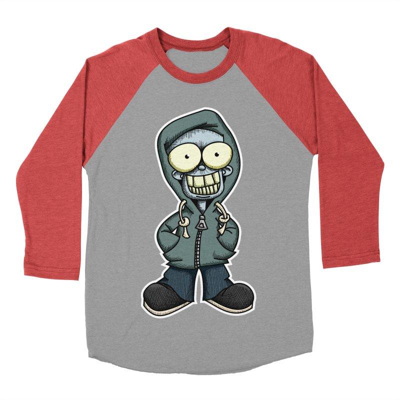 Creepy Hoodie Boy Men's Baseball Triblend T-Shirt by wislander's Artist Shop