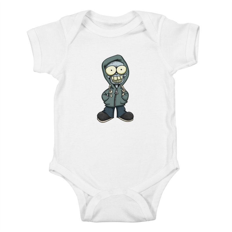 Creepy Hoodie Boy Kids Baby Bodysuit by wislander's Artist Shop
