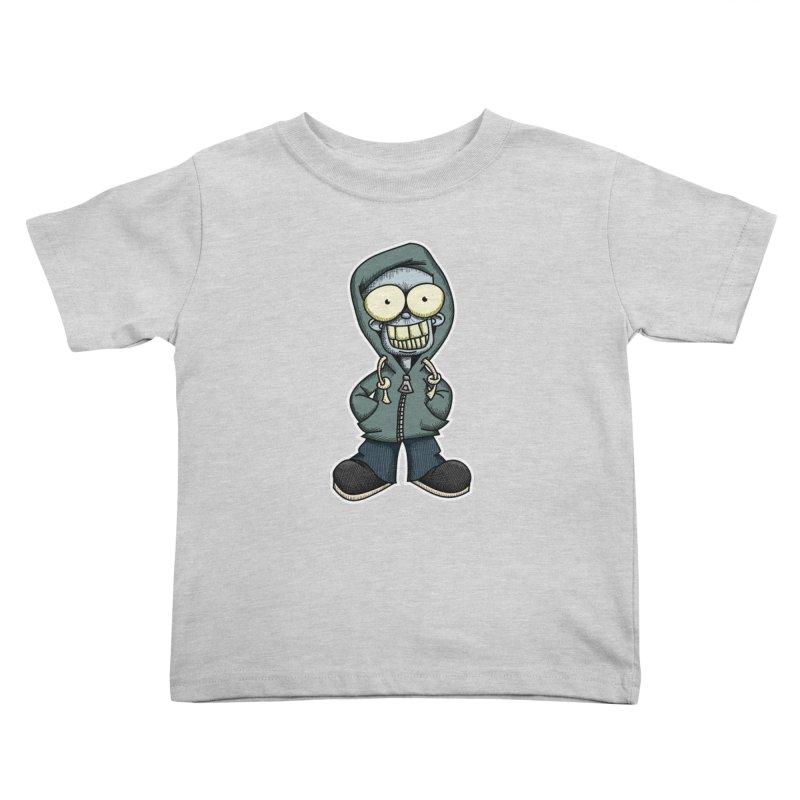 Creepy Hoodie Boy Kids Toddler T-Shirt by wislander's Artist Shop