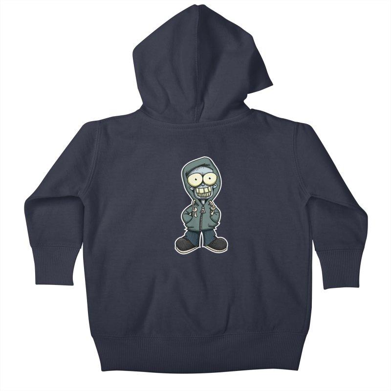 Creepy Hoodie Boy Kids Baby Zip-Up Hoody by wislander's Artist Shop