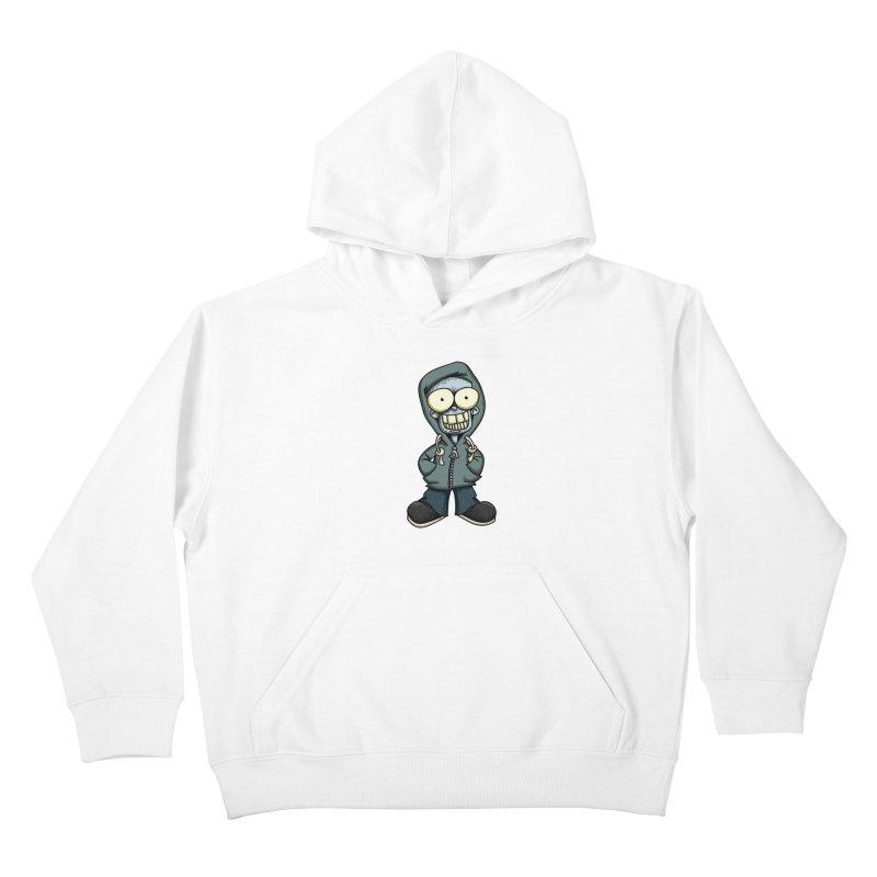 Creepy Hoodie Boy Kids Pullover Hoody by wislander's Artist Shop