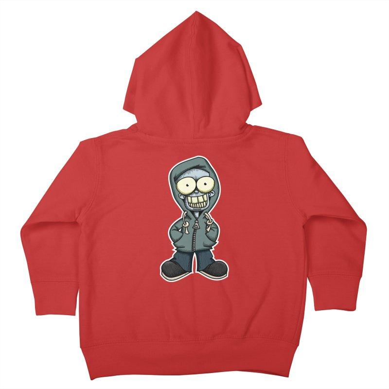 Creepy Hoodie Boy Kids Toddler Zip-Up Hoody by wislander's Artist Shop