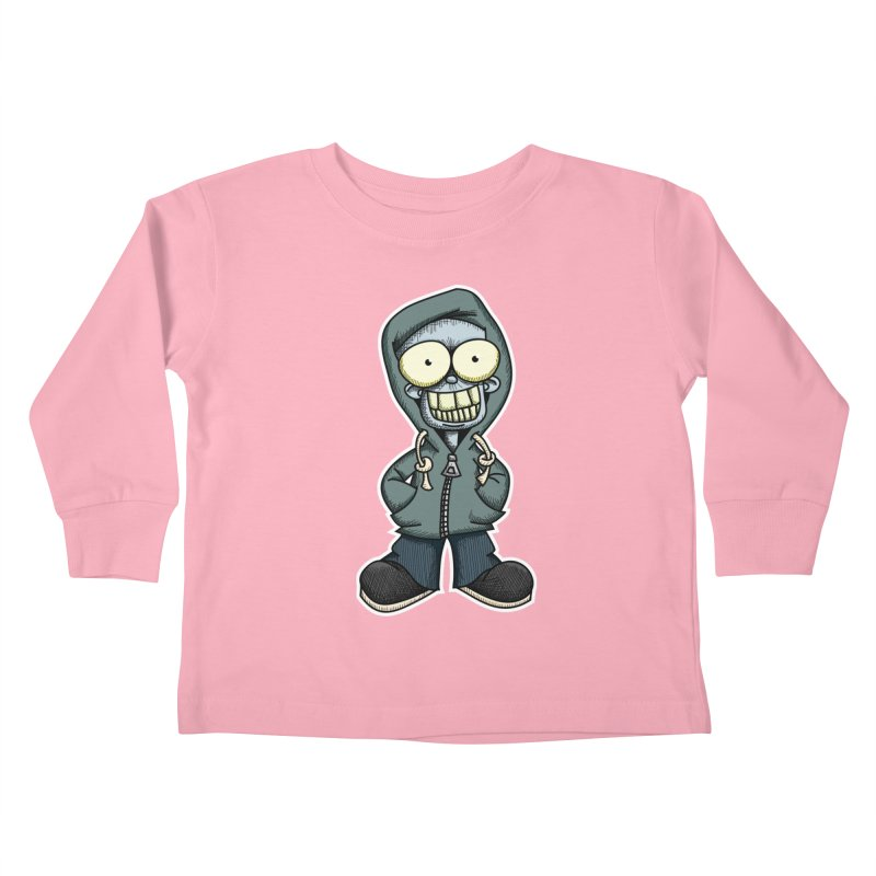 Creepy Hoodie Boy Kids Toddler Longsleeve T-Shirt by wislander's Artist Shop