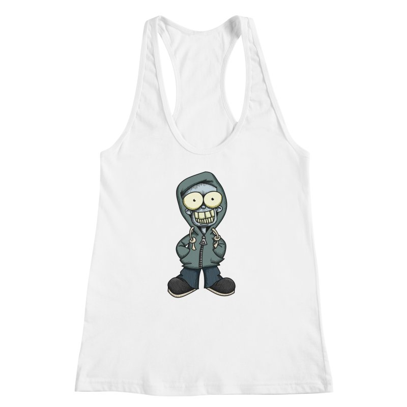 Creepy Hoodie Boy Women's Racerback Tank by wislander's Artist Shop