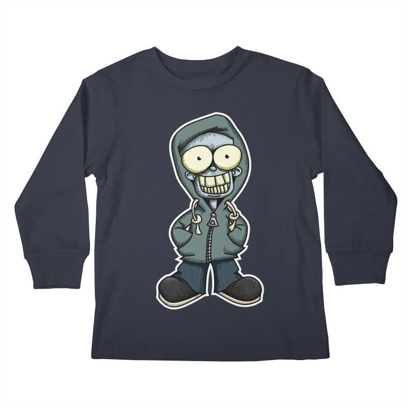 Creepy Hoodie Boy Kids Longsleeve T-Shirt by wislander's Artist Shop