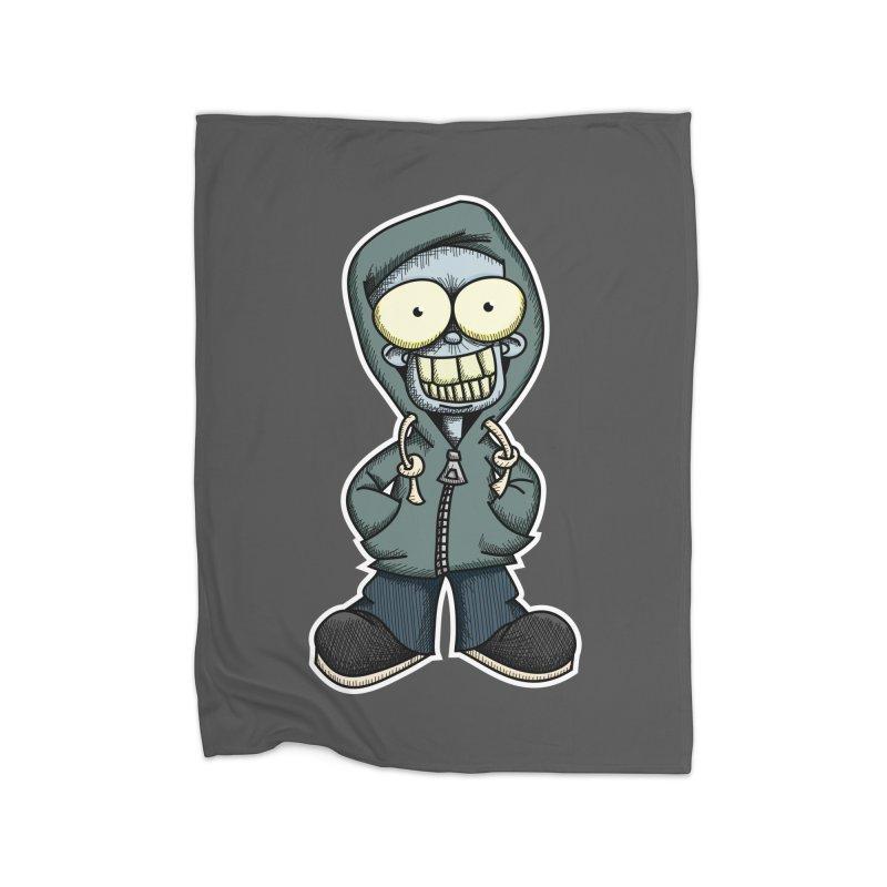 Creepy Hoodie Boy Home Blanket by wislander's Artist Shop
