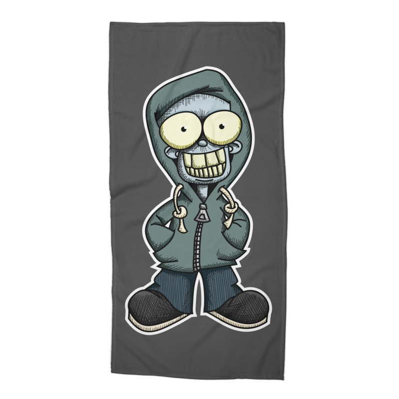 Creepy Hoodie Boy Accessories Beach Towel by wislander's Artist Shop