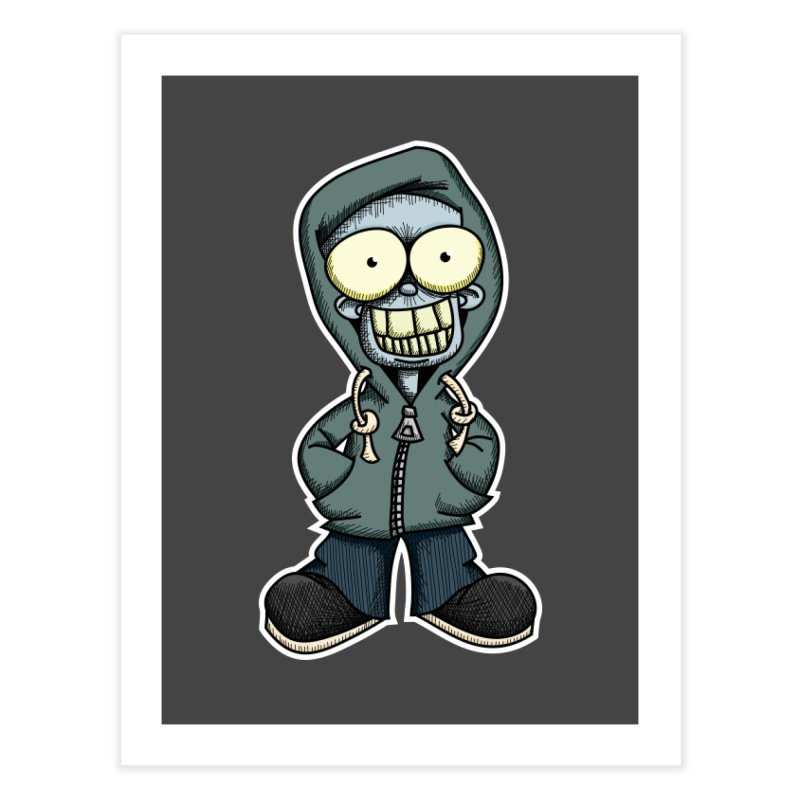 Creepy Hoodie Boy Home Fine Art Print by wislander's Artist Shop