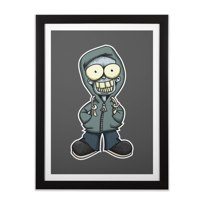 Creepy Hoodie Boy Home Framed Fine Art Print by wislander's Artist Shop