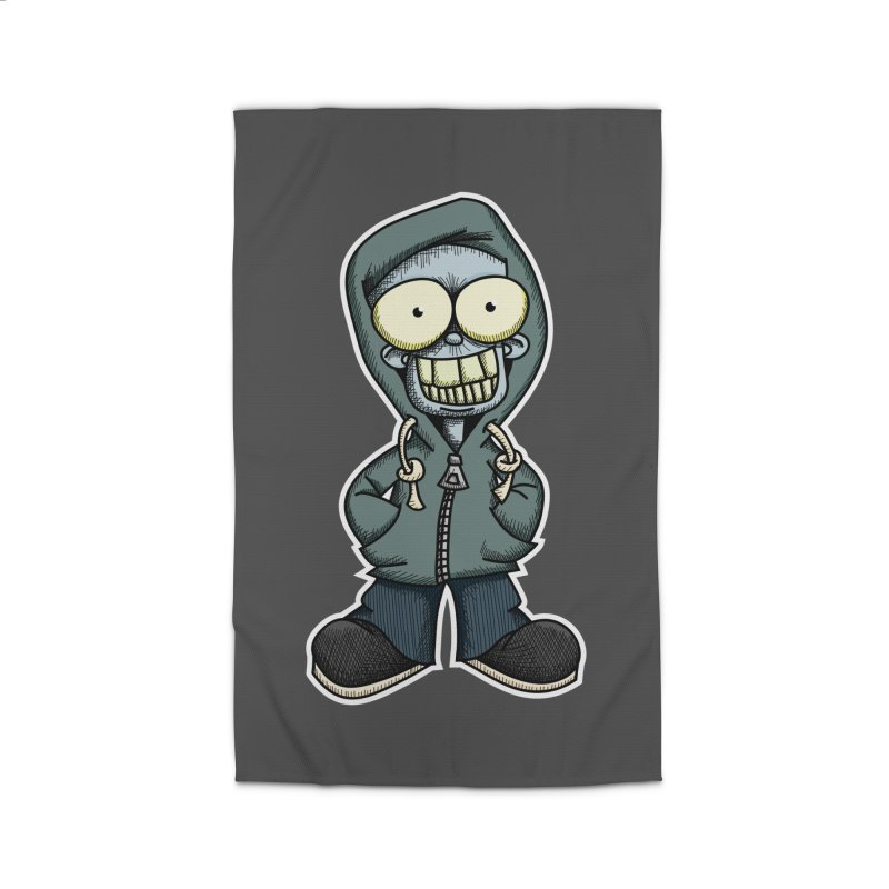 Creepy Hoodie Boy Home Rug by wislander's Artist Shop