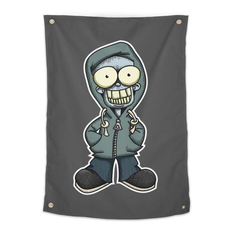 Creepy Hoodie Boy Home Tapestry by wislander's Artist Shop