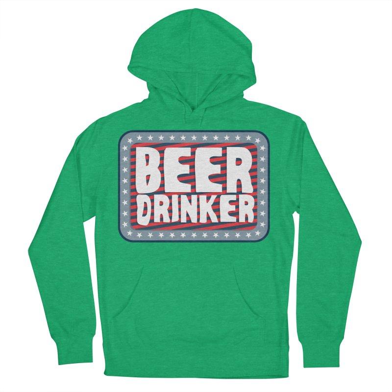 Beer Drinker #2 Women's Pullover Hoody by wislander's Artist Shop
