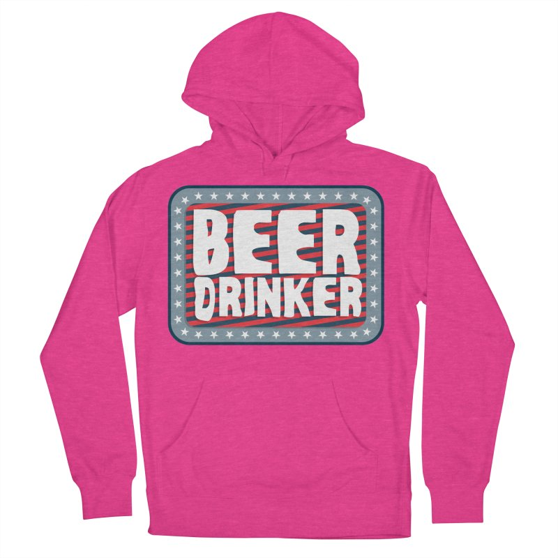 Beer Drinker #2 Women's Pullover Hoody by wislander's Artist Shop