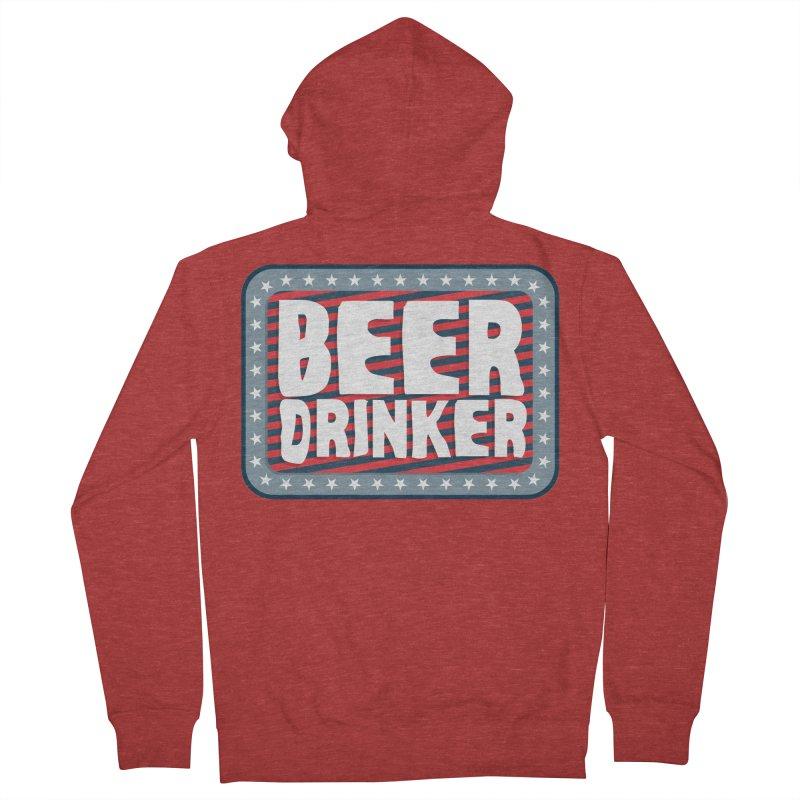 Beer Drinker #2 Women's Zip-Up Hoody by wislander's Artist Shop