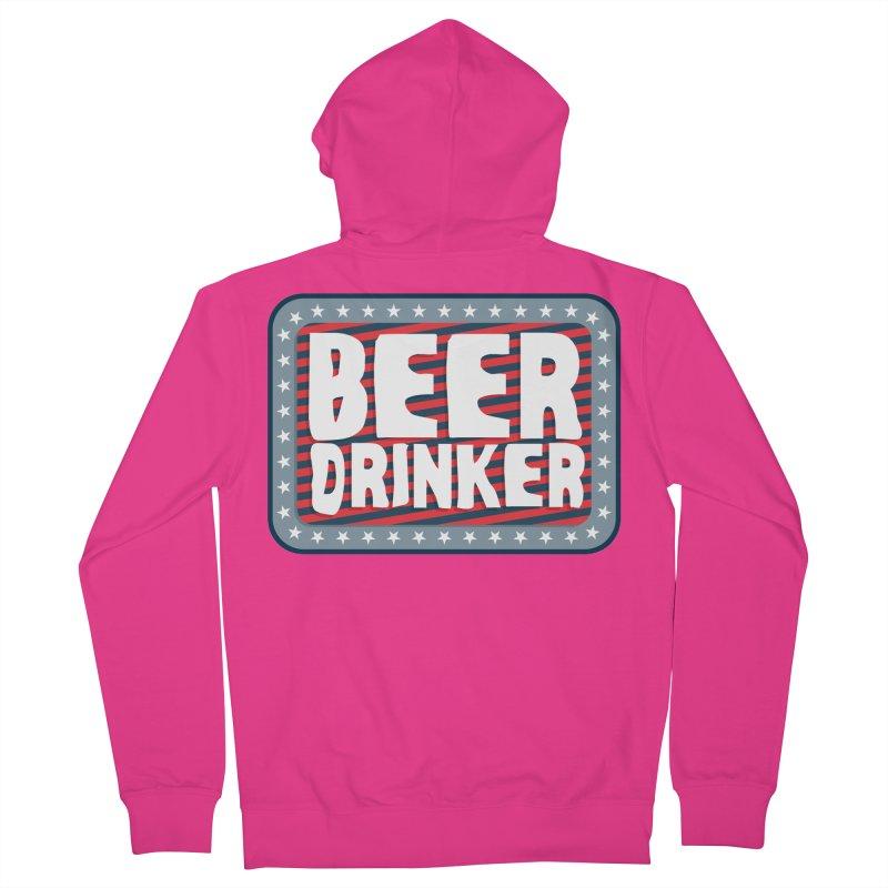 Beer Drinker #2 Men's Zip-Up Hoody by wislander's Artist Shop