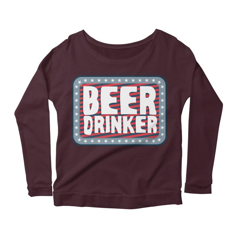Beer Drinker #2 Women's Longsleeve Scoopneck  by wislander's Artist Shop