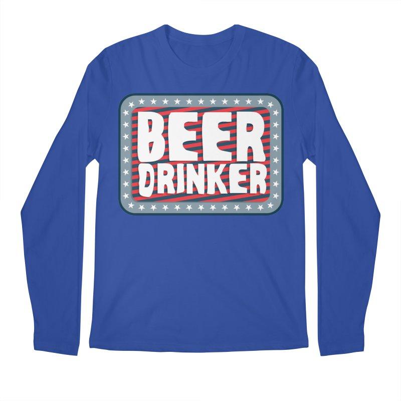 Beer Drinker #2 Men's Longsleeve T-Shirt by wislander's Artist Shop