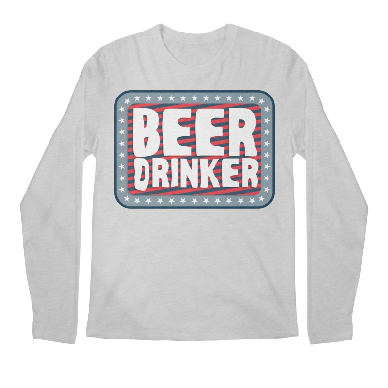 Beer Drinker #2 Men's Longsleeve T-Shirt by wislander's Artist Shop