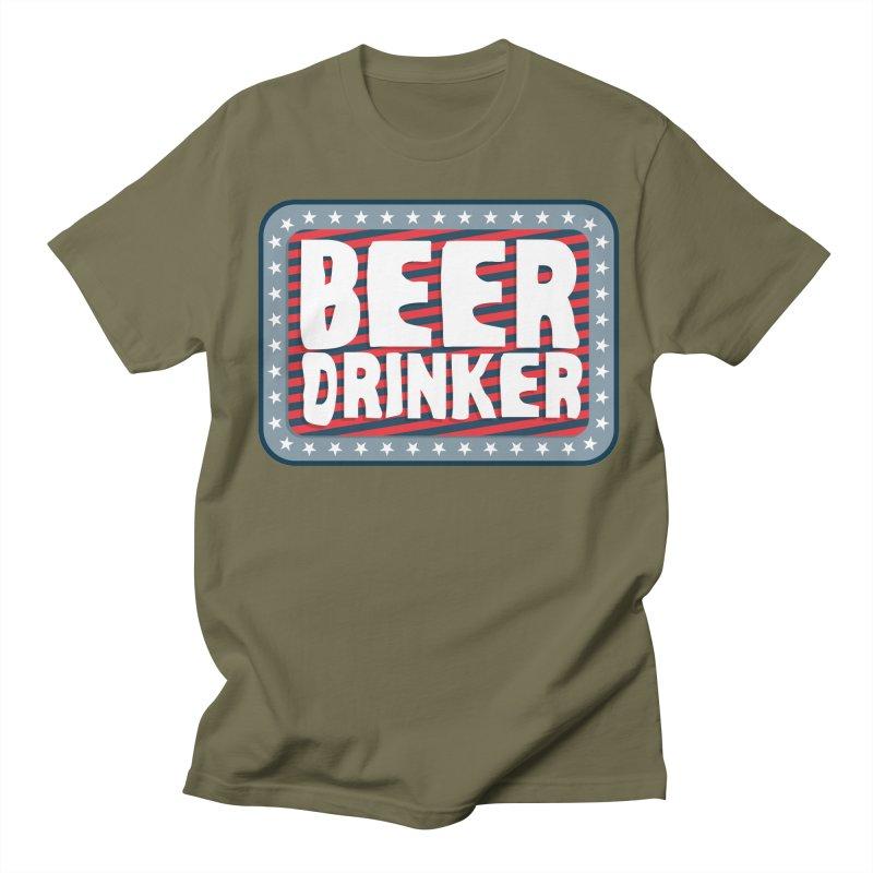 Beer Drinker #2 Men's T-Shirt by wislander's Artist Shop