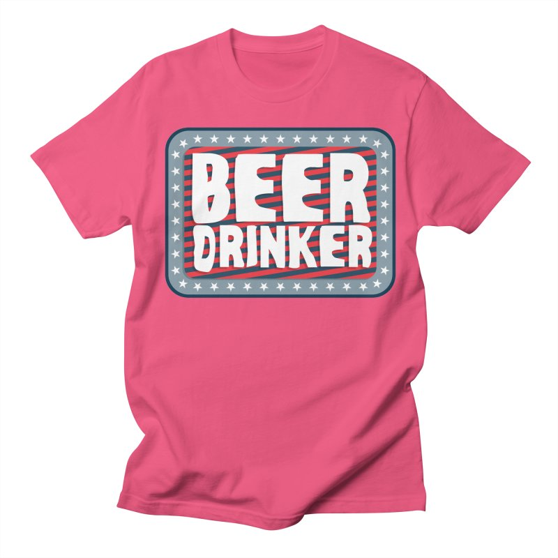 Beer Drinker #2 Men's Regular T-Shirt by wislander's Artist Shop