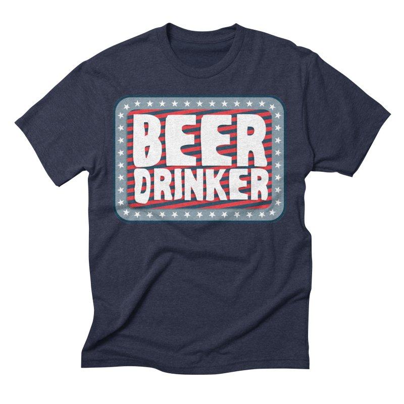 Beer Drinker #2 Men's Triblend T-Shirt by wislander's Artist Shop
