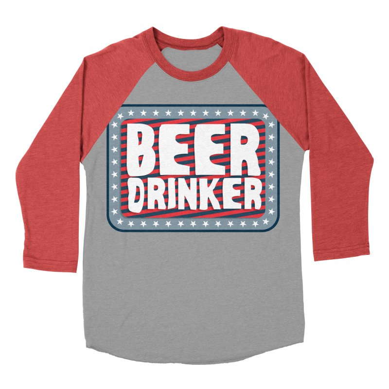Beer Drinker #2 Women's Baseball Triblend T-Shirt by wislander's Artist Shop