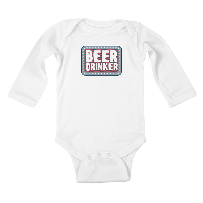 Beer Drinker #2 Kids Baby Longsleeve Bodysuit by wislander's Artist Shop