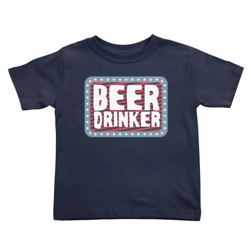 Beer Drinker #2 Kids Toddler T-Shirt by wislander's Artist Shop