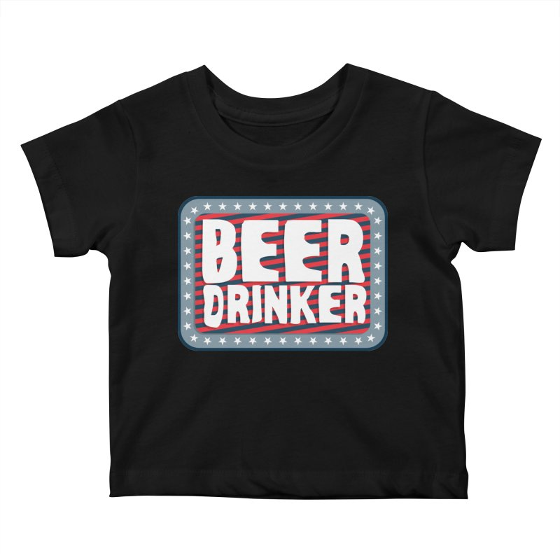 Beer Drinker #2 Kids Baby T-Shirt by wislander's Artist Shop