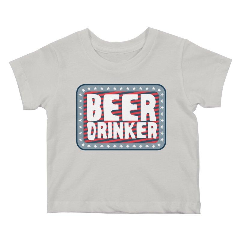 Beer Drinker #2 Kids Baby T-Shirt by wislander's Artist Shop