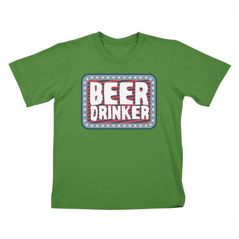 Beer Drinker #2 Kids T-Shirt by wislander's Artist Shop