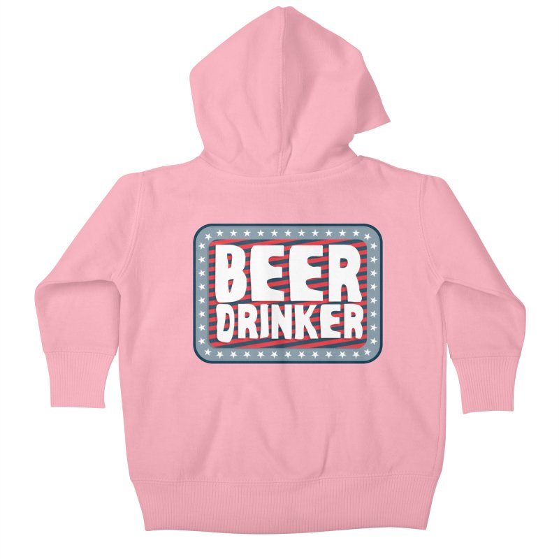 Beer Drinker #2 Kids Baby Zip-Up Hoody by wislander's Artist Shop