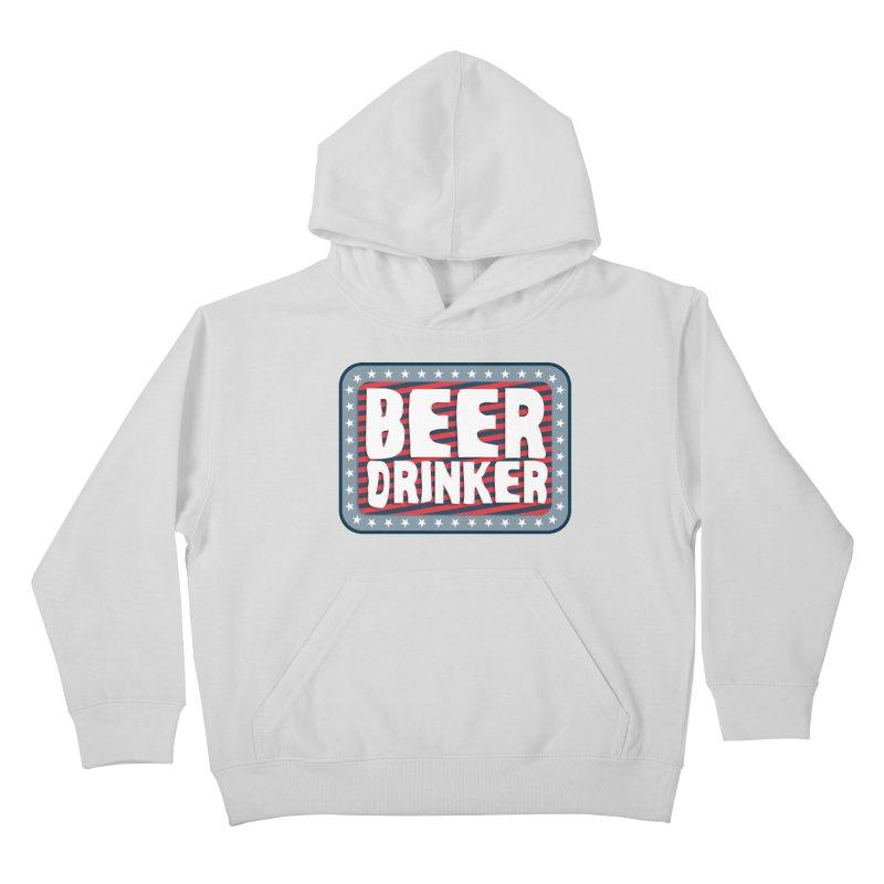 Beer Drinker #2 Kids Pullover Hoody by wislander's Artist Shop