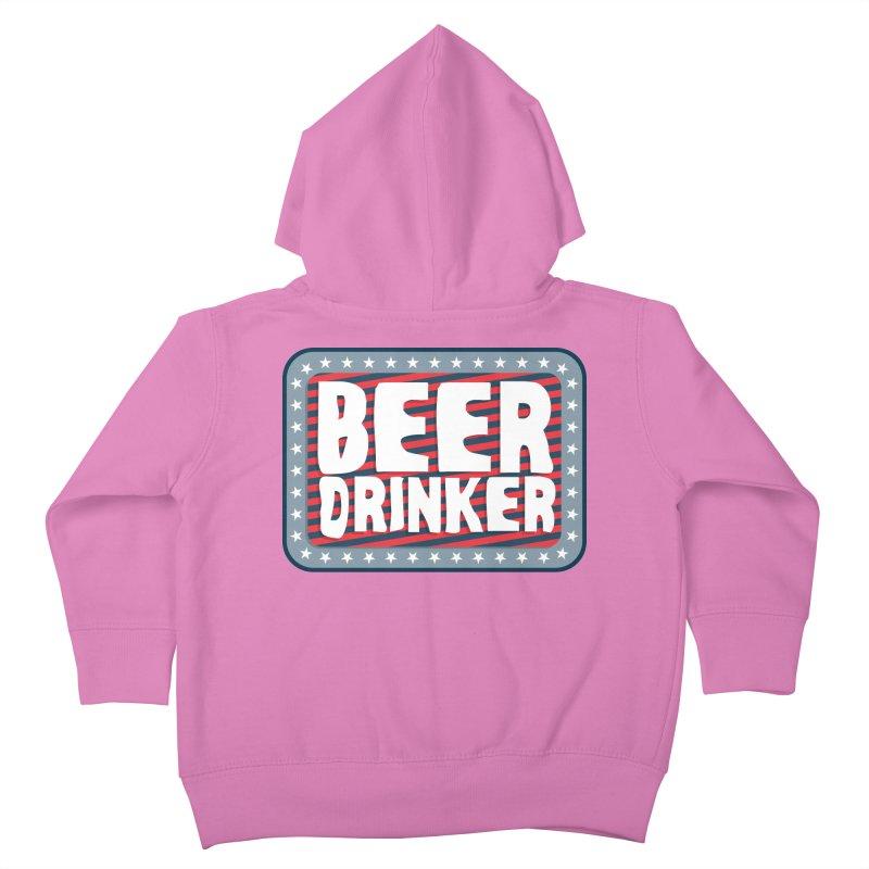 Beer Drinker #2 Kids Toddler Zip-Up Hoody by wislander's Artist Shop