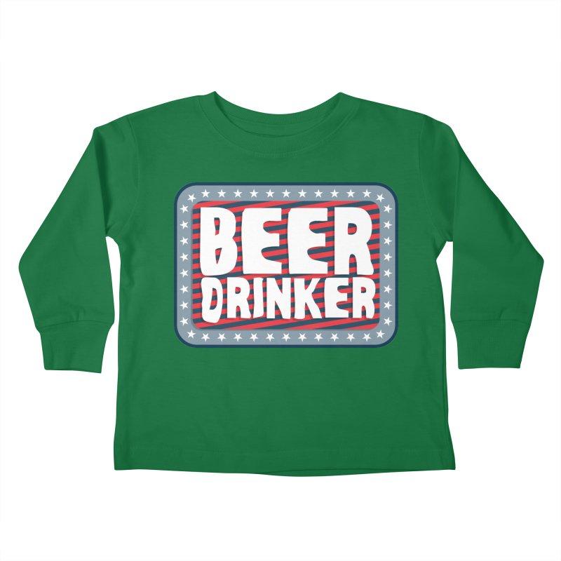 Beer Drinker #2 Kids Toddler Longsleeve T-Shirt by wislander's Artist Shop