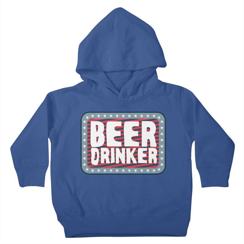 Beer Drinker #2 Kids Toddler Pullover Hoody by wislander's Artist Shop
