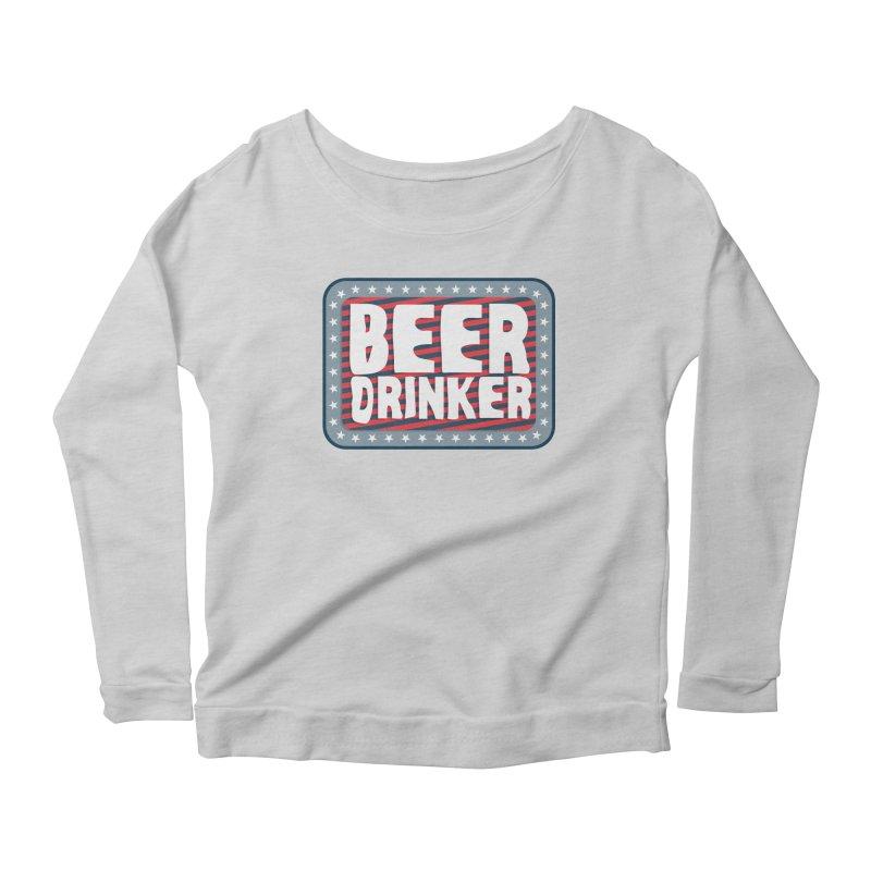 Beer Drinker #2 Women's Scoop Neck Longsleeve T-Shirt by wislander's Artist Shop