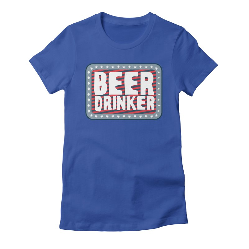 Beer Drinker #2 Women's Fitted T-Shirt by wislander's Artist Shop